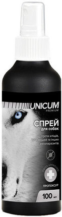 UNICUM premium спрей от блох и клещей для собак