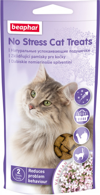 Beaphar No Stress Cat Treats – антистрес ласощі для котів