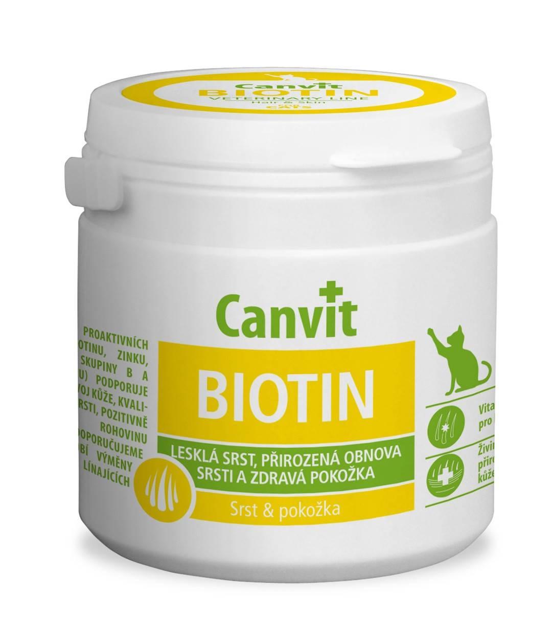CANVIT  BIOTIN – витаминный комплекс с биотином для здоровья шерсти и кожи котов