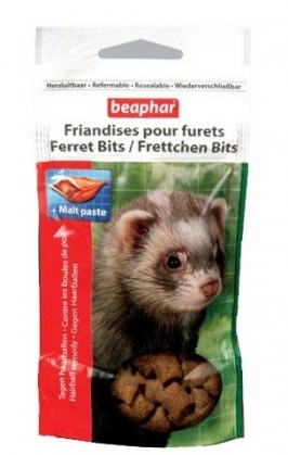 Beaphar Xtra Vital Ferret Bits – лакомство для хорьков с мальт пастой