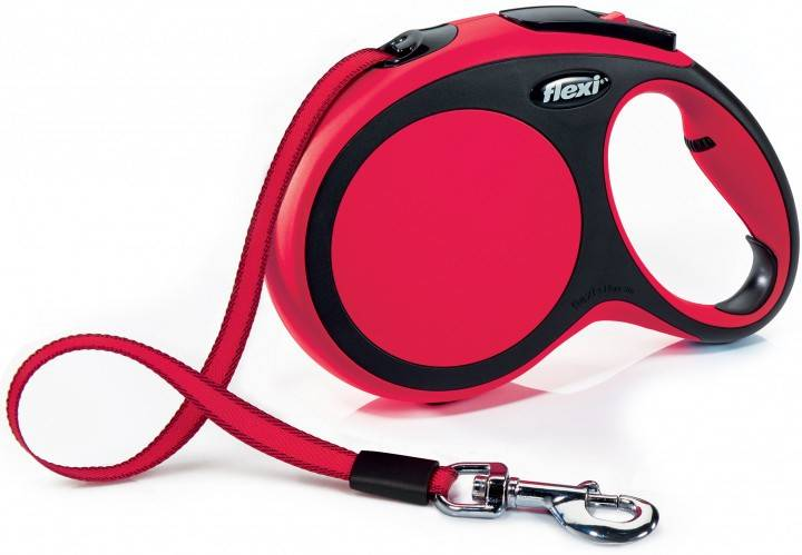 Flexi New Comfort повідець-рулетка для собак до 50 кг, стрічка