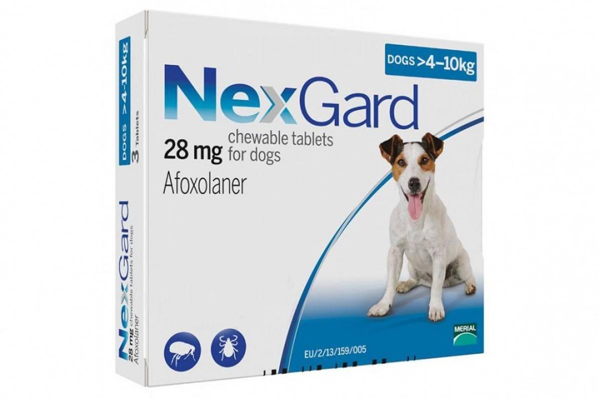 BOEHRINGER INGELHEIM NEXGARD Таблетки від бліх і кліщів для собак вагою від 4 кг до 10 кг