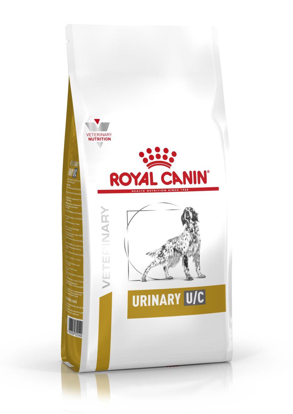 ROYAL CANIN URINARY U/C – лечебный сухой корм для собак для профилактики образования уратных, цистиновых или ксантиновых камней