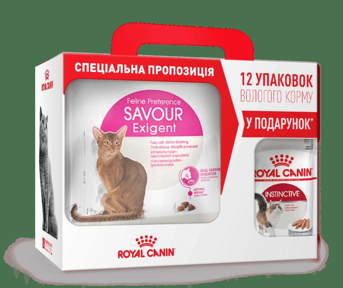 ROYAL CANIN SAVOUR EXIGENT – сухой корм для взрослых котов, привередливых ко вкусу корма