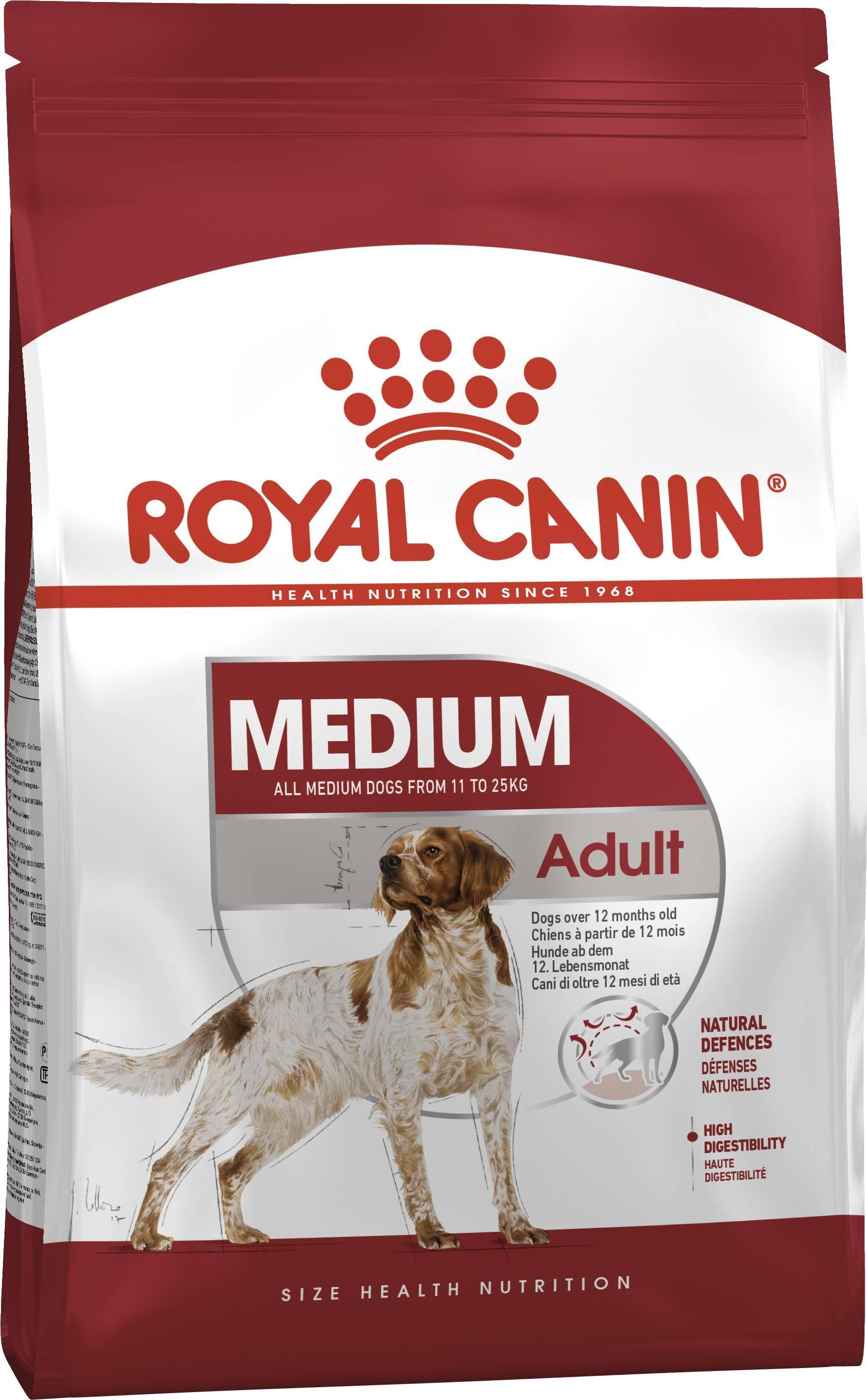ROYAL CANIN MEDIUM ADULT – сухой корм для взрослых собак средних пород