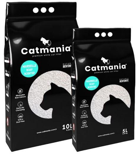 Catmania Marseille Soap –  комкующийся наполнитель для кошачьего туалета с ароматом марсельского мыла