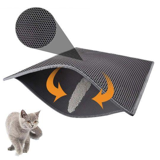 """EVA двухслойный коврик под кошачий туалет """"Евамур"""", 330×300×10 мм"""