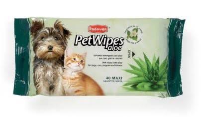 PADOVAN Pet Wipes Aloe – очищаючі серветки дляя котів і собак
