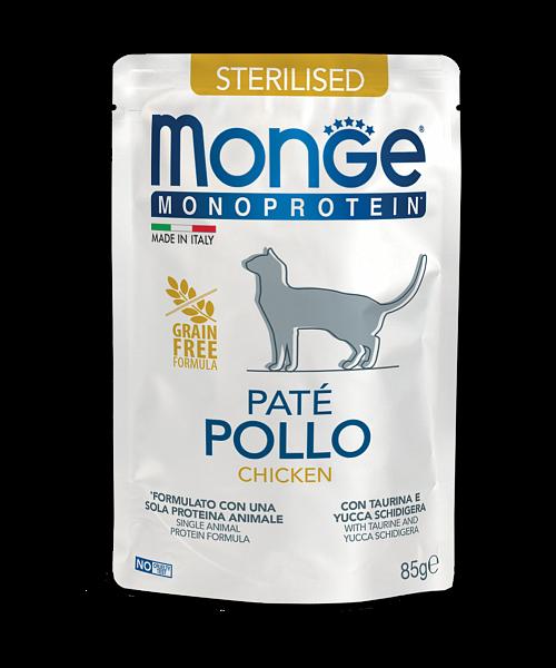 Monge Monoprotein Sterilised Chicken - консервы с курицей для стерилизованных котов