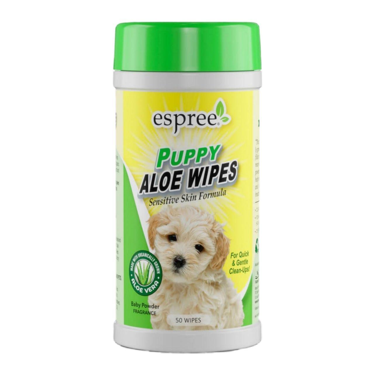Espree Puppy Aloe Wipes – влажные салфетки для очистки щенков