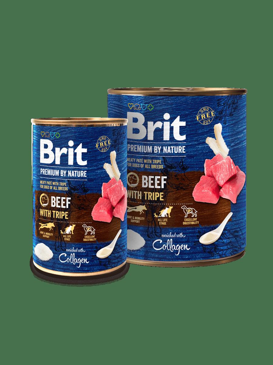 BRIT PREMIUM BEEF WITH TRIPE – консерви з яловичиною та рубцем для собак