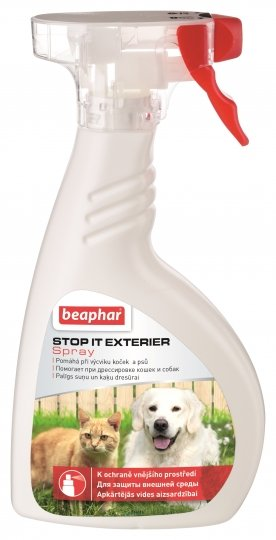 Beaphar Stop It Exterier – спрей для отпугивания кошек и собак на улице
