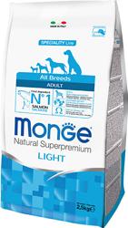 Monge Adult Light – низкокалорийный сухой корм для взрослых собак всех пород