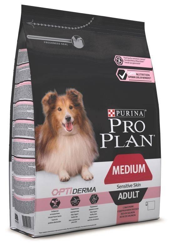 PURINA PRO PLAN ADULT MEDIUM SENSITIVE SKIN – сухой корм для взрослых собак средних пород с чувствительной кожей