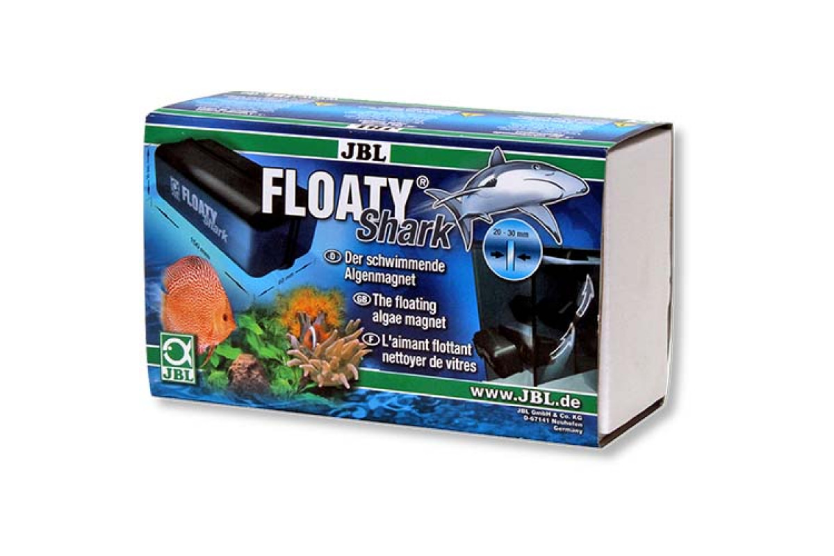 JBL Floaty Shark – плавающий магнитный скребок для чистки толстых аквариумных стекол