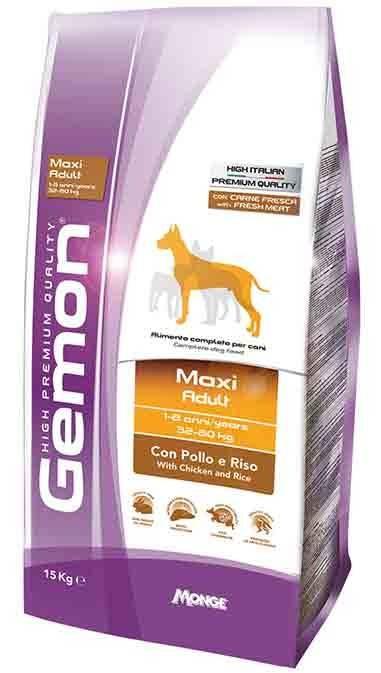 GEMON MAXI ADULT – сухой корм с курицей и рисом для взрослых собак крупных пород