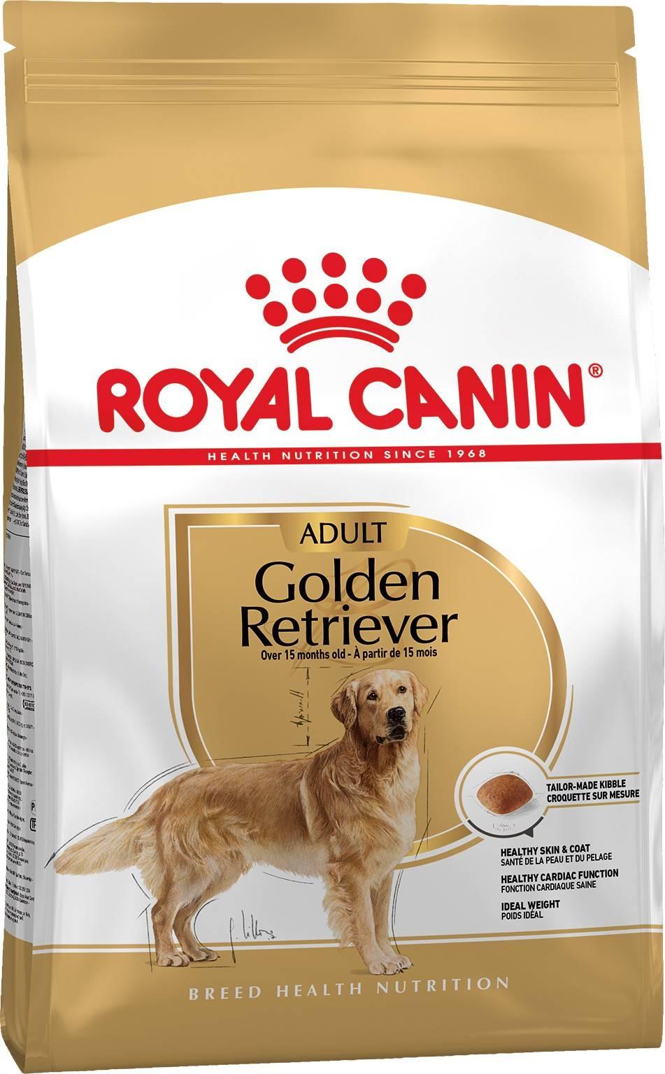 ROYAL CANIN GOLDEN RETRIEVER ADULT – сухой корм для взрослых собак породы золотистый ретривер