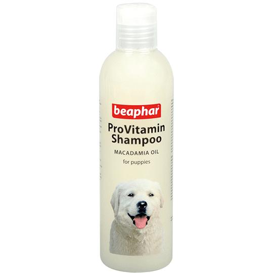 Beaphar ProVitamin Shampoo Macadamia Oil  – шампунь з олією макадамія для цуценят з чутливою шкірою