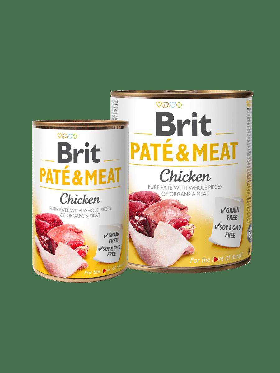 BRIT PATÉ & MEAT CHICKEN – влажный корм с курицей для взрослых собак