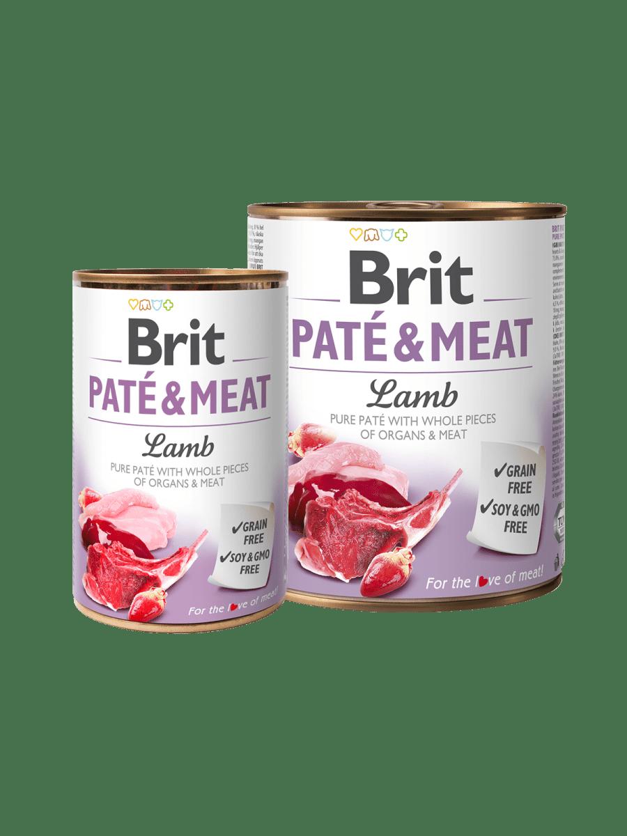 BRIT PATÉ & MEAT LAMB – влажный корм с ягненком для взрослых собак