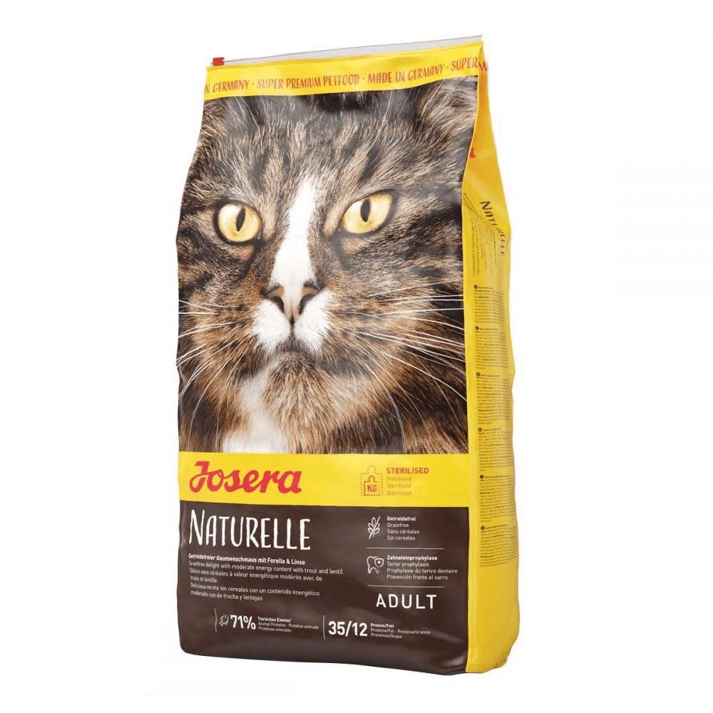 JOSERA NATURELLE – сухой беззерновой корм для малоактивных котов