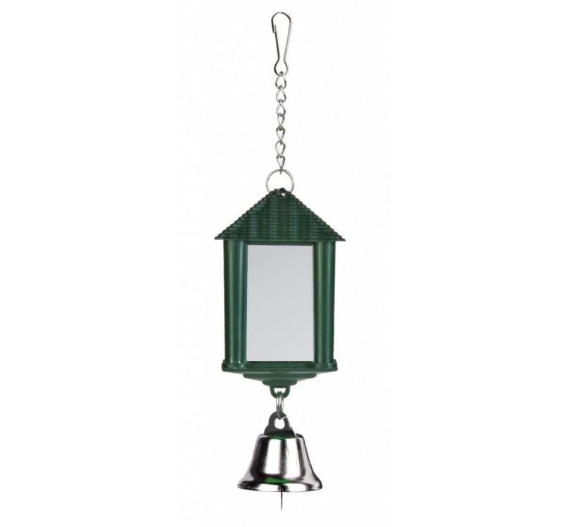 Trixie дзеркало-ліхтарик із дзвіночком із пластику для птахів