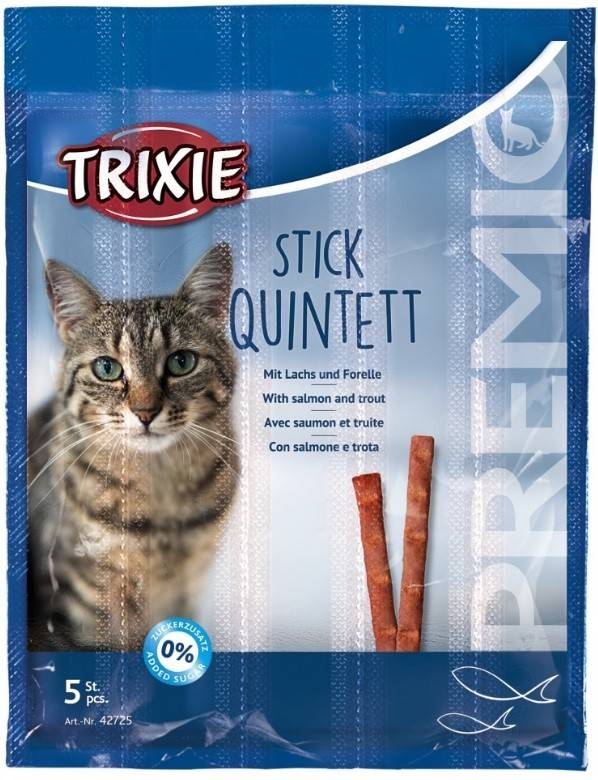 Trixie Premio Quadro-Sticks палички з лососем та фореллю для котів