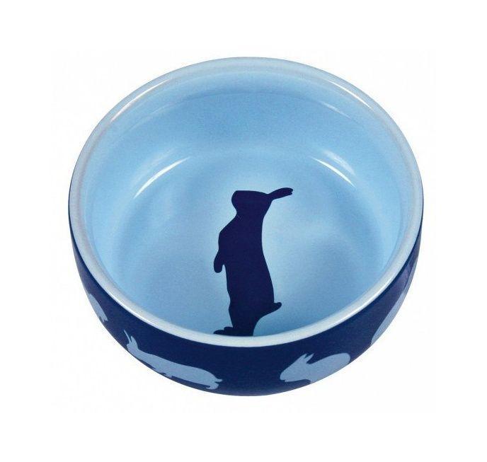Trixie синьо-блакитна керамічна миска для кролика