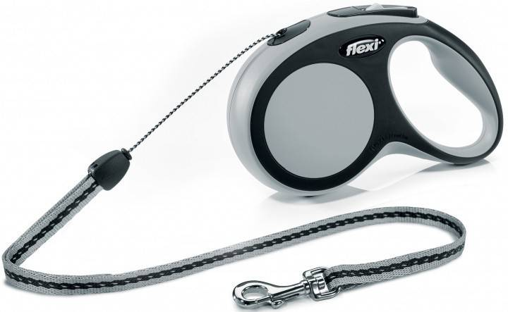 Flexi New Comfort S поводок-рулетка для собак до 12 кг, трос 8 м