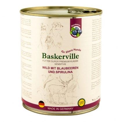 Baskerville Sensitive – вологий корм з олениною для собак з чутливим травленням або літніх собак