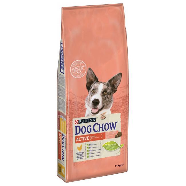 DOG CHOW сухой корм с курицей для взрослых активных и рабочих собак