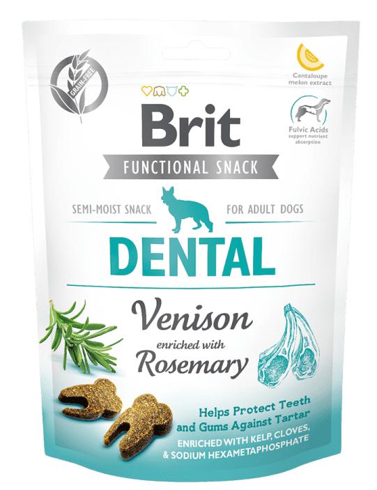BRIT CARE DENTAL VENISON – лакомство для собак для зубов и десен