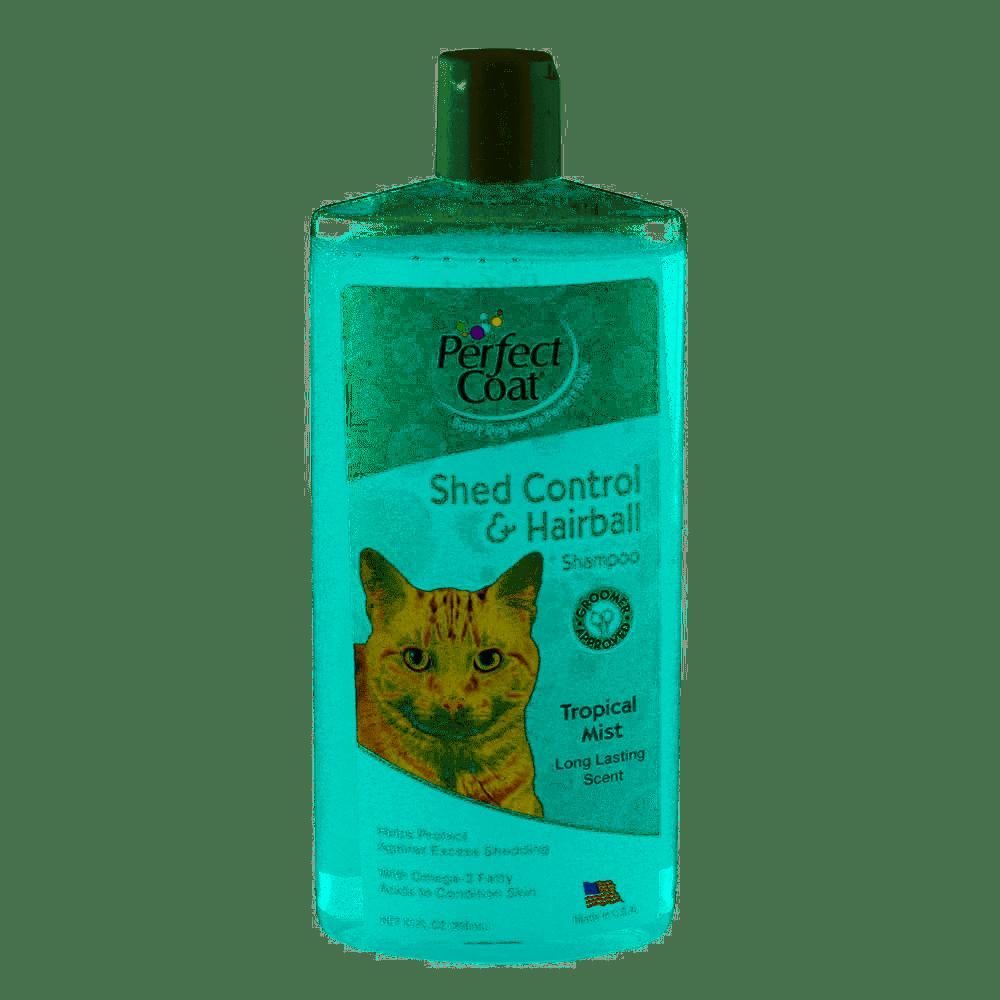 Perfect Coad Shed and Hairball Control Shampoo for Cats – шампунь для регуляції линьки, для котів