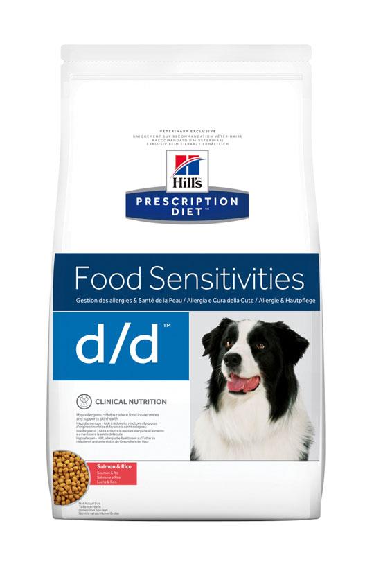HILL'S PRESCRIPTION DIET D/D FOOD SENSITIVITIES лечебный сухой корм с лососем и рисом для для собак с пищевыми алергиями
