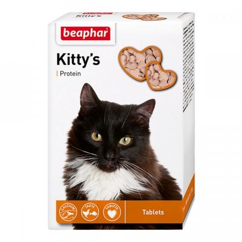 Beaphar Kitty's + Protein – вітамінізовані ласощі з протеїном для дорослих котів