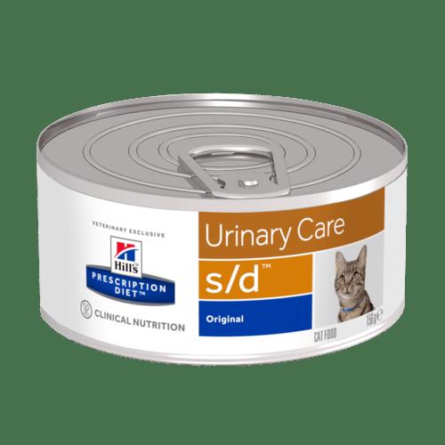 HILL'S Prescription Diet Feline S/D – лечебный влажный корм для котов для растворения струвитных уролитов и кристаллов