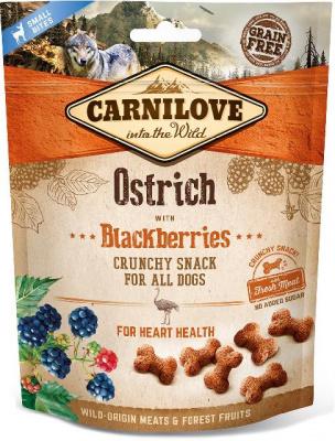 Carnilove Dog Crunchy Snack лакомства с мясом страуса и ежевикой для собак