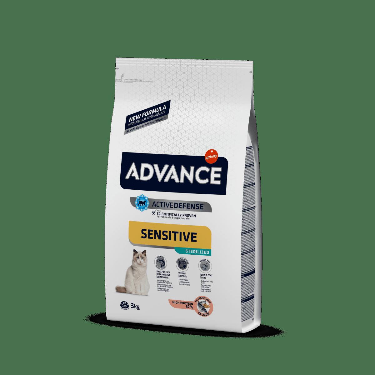 Advance Sterilized Salmon Sensitive – cухой корм для стерилізованих кішок з чутливим травленням