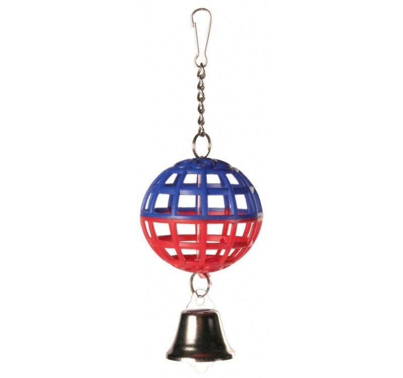 Trixie пластмассовый мяч с колокольчиком для птиц