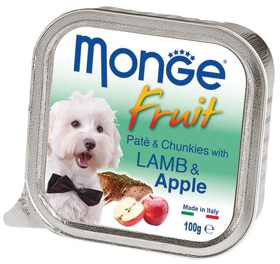 Monge Fruit with Lamb and Apple – консервы с ягненком и яблоком для собак