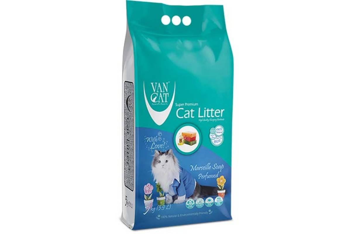 VANCAT MARSEILLE SOAP – бентонитовый наполнитель для кошачьего туалета с ароматом французского мыла