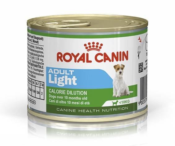 ROYAL CANIN ADULT LIGHT WET – влажный корм для собак мелких пород, склонных к набору лишнего веса