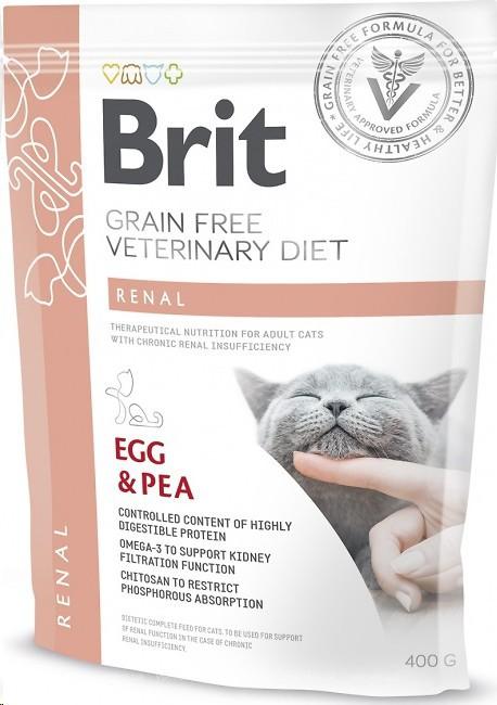 Brit Veterinary Diet Cat Renal – лечебный сухой корм для взрослых котов с почечной недостаточностью