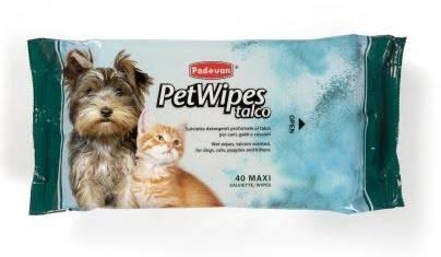 PADOVAN Pet Wipes Talco – вологі серветки для собак і котів