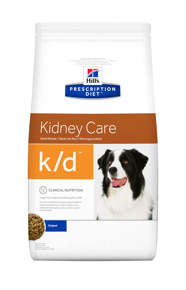 HILL'S PRESCRIPTION DIET K/D KIDNEY CARE – лечебный сухой корм для собак при заболеваниях почек