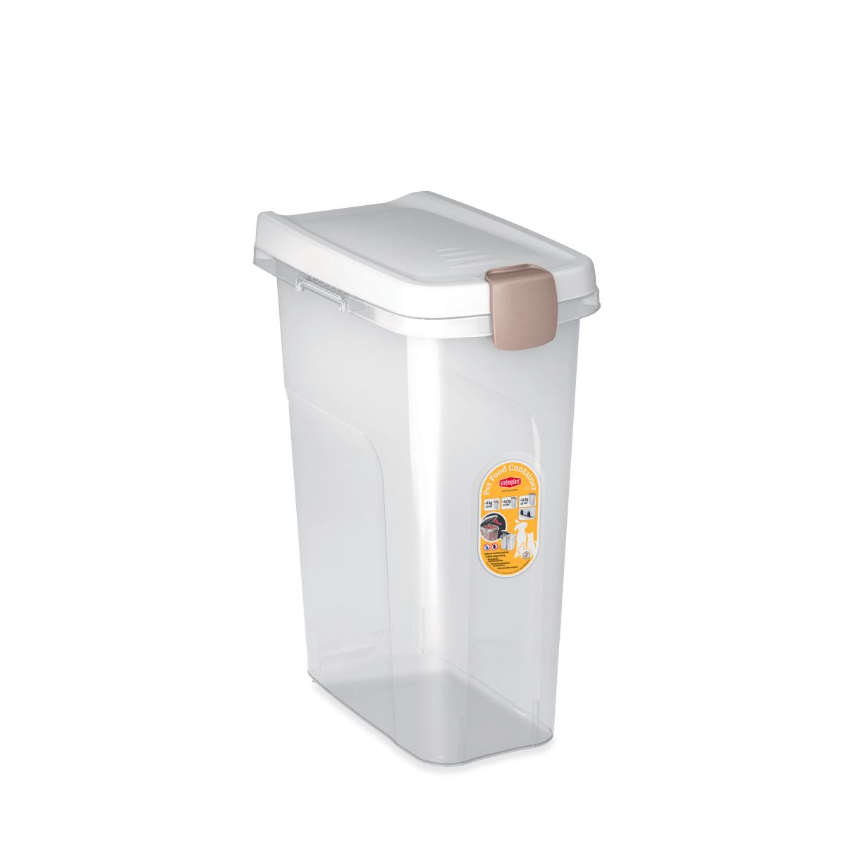 Stefanplast контейнер для корму, білий/прозорий