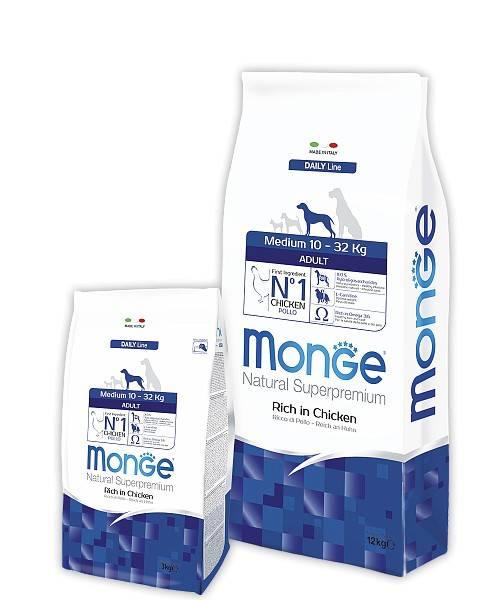 MONGE MEDIUM ADULT – сухой корм для взрослых собак средних пород