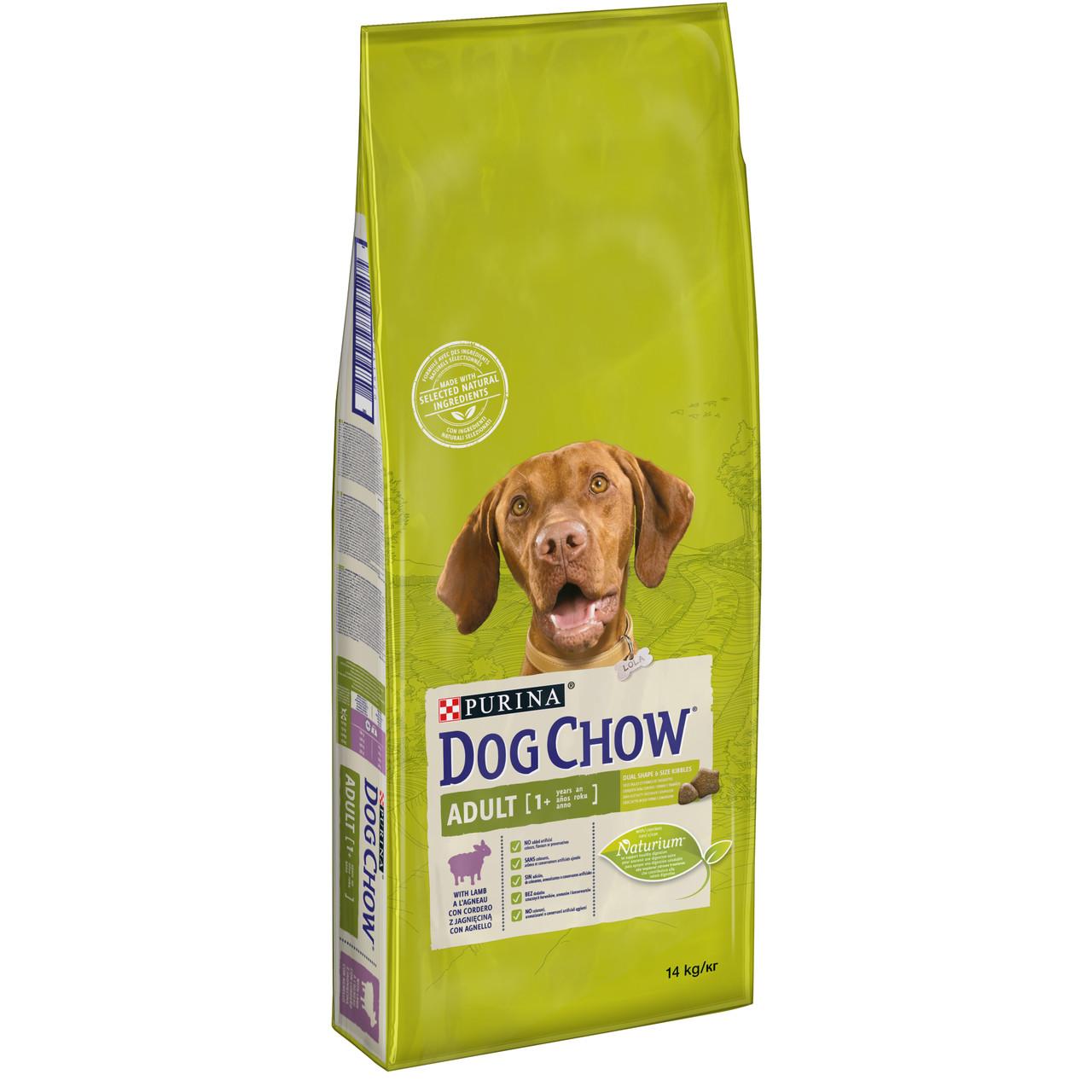 DOG CHOW сухий корм з ягням для дорослих собак усіх порід