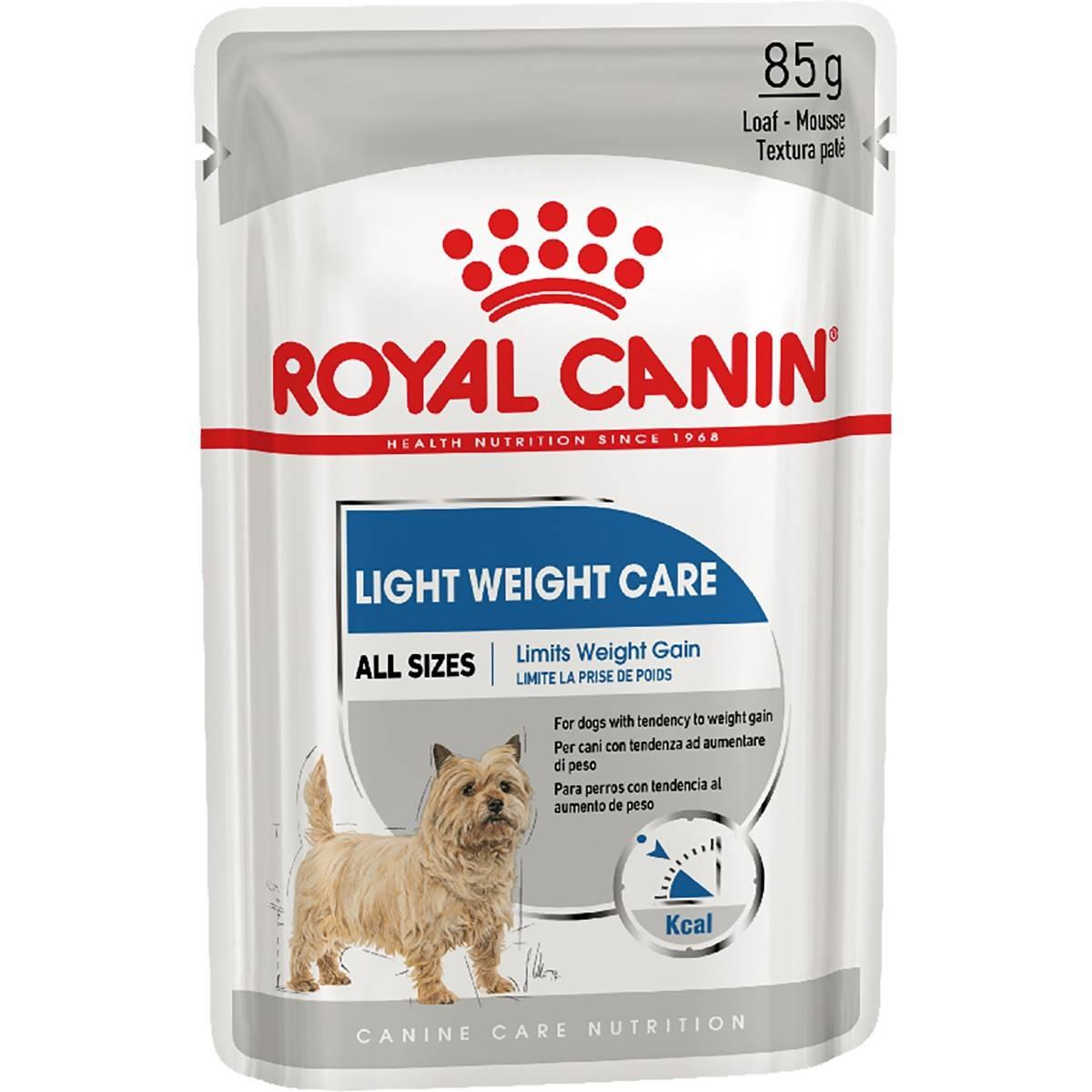 ROYAL CANIN LIGHT WEIGHT CARE ALL SIZES – вологий корм для собак, схильних до набору зайвої ваги