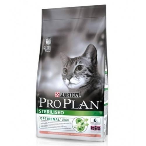 PURINA PRO PLAN CAT ADULT STERILISED SALMON – сухой корм с лососем для взрослых стерилизованных котов